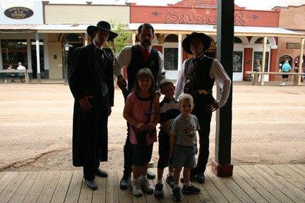 Wyatt Earp, Morgan and Virgil stopped by for a photo