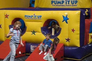 The Kid Cave, a featured inflatable at the North Phoenix PumpItUp Location