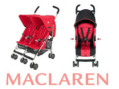 Nearly a million Maclaren strollers have been recalled as of Monday because of numerous reports of fingertips being amputated by a hinge mechanism.