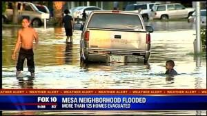 Flooding in Mesa, AZ