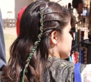 We brought our hair leathers back this year and the Captan treated us to some free braided coifs!